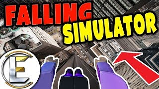 FALLING SIMULATOR IN ROBLOX | Parkour City - How To Safely Land On Your Feet! ( Funny Moments )