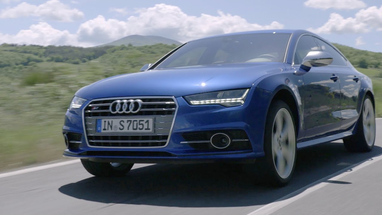 audi s7 sportback 2015 first driving youtube. Black Bedroom Furniture Sets. Home Design Ideas