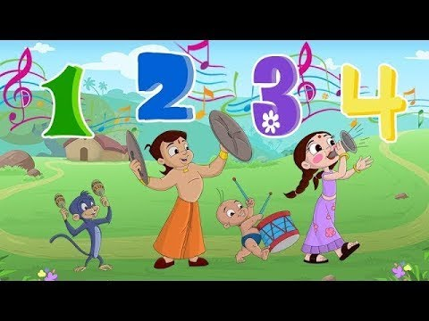 Chhota Bheem - Knick Knack Paddy Whack Song | Numbers song