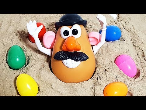 TOY STORY Mr Potato Head assemble! Animals Toys With Surprise eggs Learning Video Part15