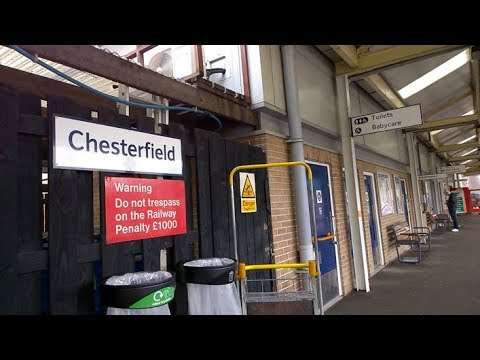 chesterfield train station youtube. Black Bedroom Furniture Sets. Home Design Ideas