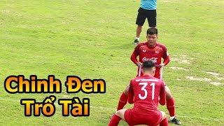 Thử Thách Bóng Đá đi xem Bùi Tiến Dũng Hà Đức Chinh Đoàn Văn Hậu U23 Việt Nam tập luyện đấu Thái lan