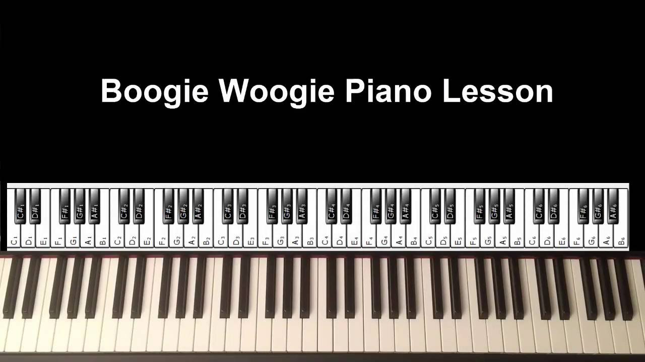 Boogie Woogie Piano Lesson