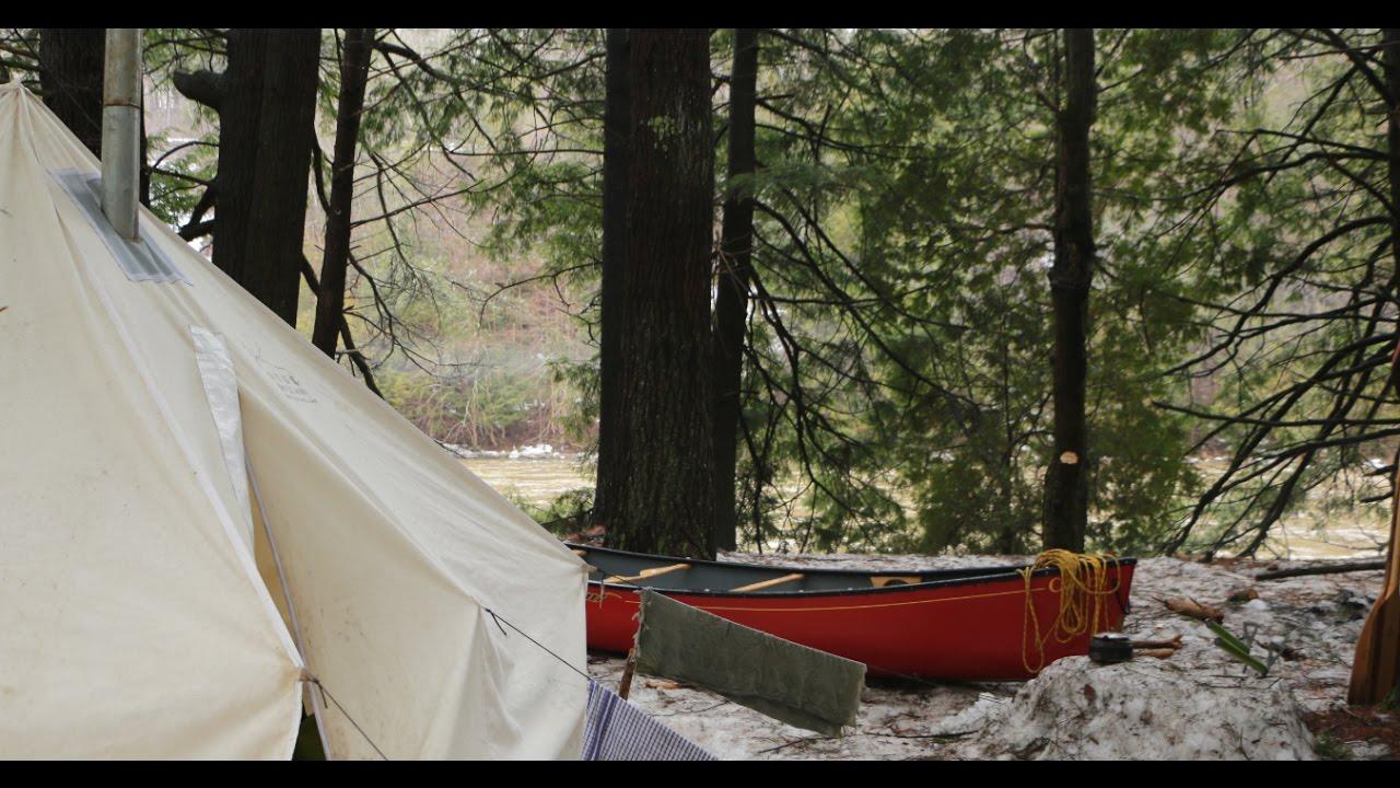 SPRING BUSHCRAFT CANOE CAMPING
