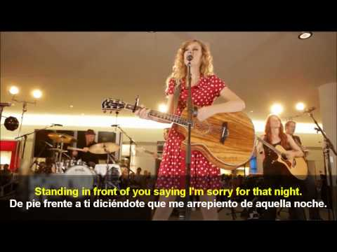 Taylor Swift - Back To December (English - Spanish) lyrics / Subtitulado en ESPAÑOL & INGLES