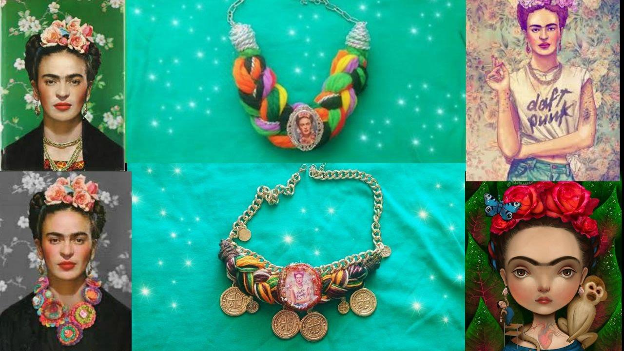 D i y collares de frida kahlo facil youtube for Cuartos decorados de frida kahlo
