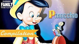 PINOCCHIO | Clip and Trailer Compilation for Disney Classic Family Movie