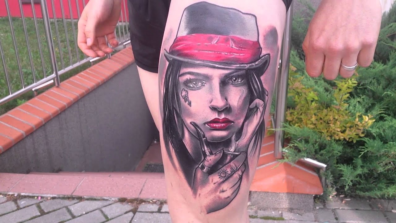 Tatuaż Twarze Wyklechu W Studziński Tattoo Youtube