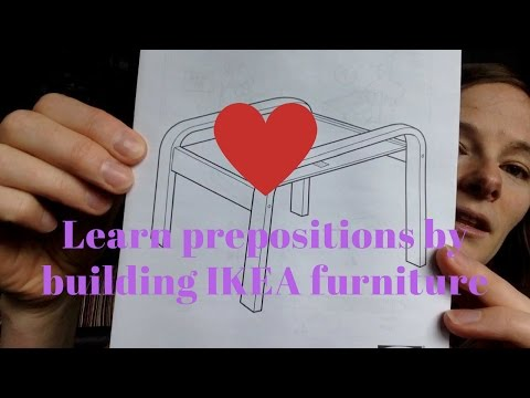 Learn Prepositions By Building Ikea Furniture