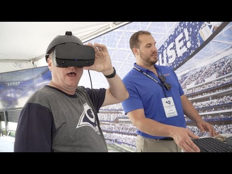 Rams host kickoff festival; Fans use virtual reality to view new stadium