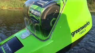 Аккумуляторный лодочный мотор Greenworks 40V