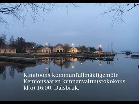 Kimitoöns kommunfullmäktigemöte 28.5.2018