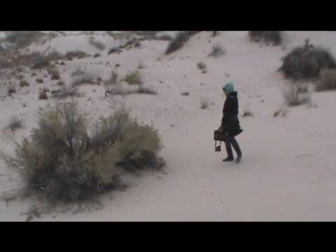 White Sands Dunes, New Mexico in the Snow