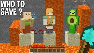 WHO to SAVE HAMOOD HABIBI or GIRL or AVOCADOS FROM MEXICO in Minecraft ???