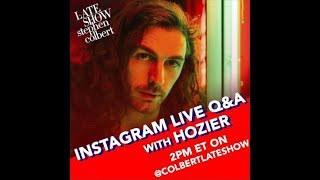 Instagram Live Q&A with Hozier - The Late Show with Stephen Colbert