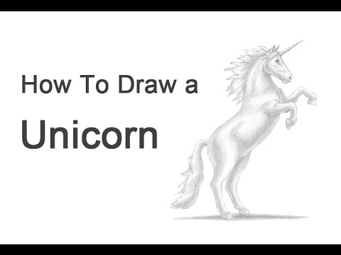 How To Draw A Unicorn Or Horse Rearing Youtube