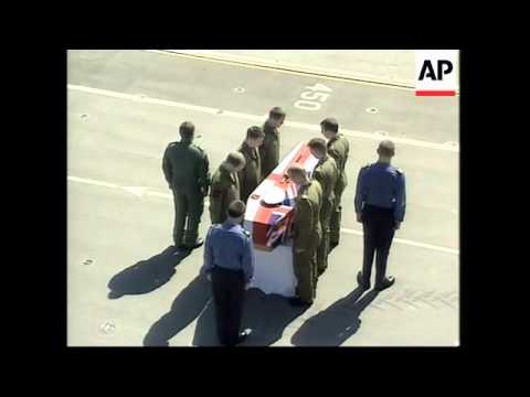 GWT: Repatriation ceremony for dead UK aircrew aboard Ark Royal