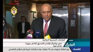مصر والجزائر تؤكدان التنسيق الكامل بينهما بشأن ليبيا