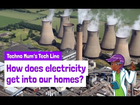 How does electricity get into our homes?