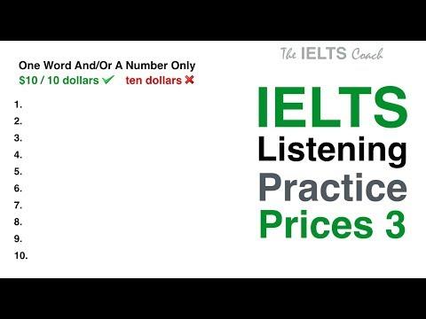 IELTS Listening Practice - Prices 3