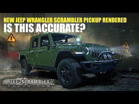 New Jeep Jl Wrangler Scrambler Pickup Rendered Youtube