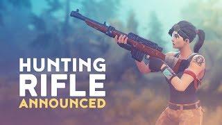 HUNTING RIFLE ANNOUNCED! (Fortnite Battle Royale)