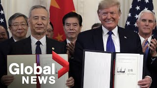 Trump and Chinese Vice Premier Liu sign Phase 1 of trade deal