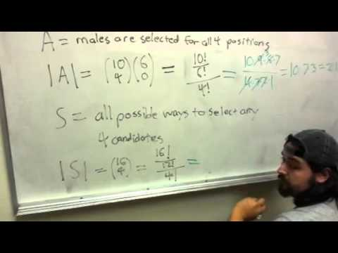 Math 131 - Probability of selecting all boys using combinations