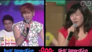 Boys & Girls Generation - Gee (live duet)