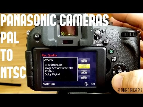Panasonic Hack FZ-1000/G7/GX8 How to Change from PAL to NTSC 25P/50P/100FPS to 30P/60P/120FPS