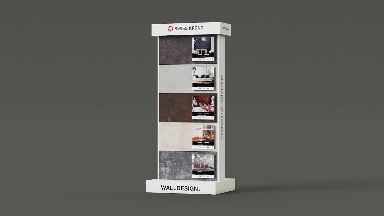 Ekspozytor Wall Design Swiss Krono - YouTube