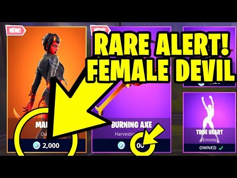 Fortnite *RARE ALERT* Item Shop - NEW MALICE (DEVIL) SKIN, Burning Axe & Electro Swing
