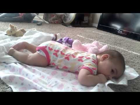 4 month old baby trying to crawl