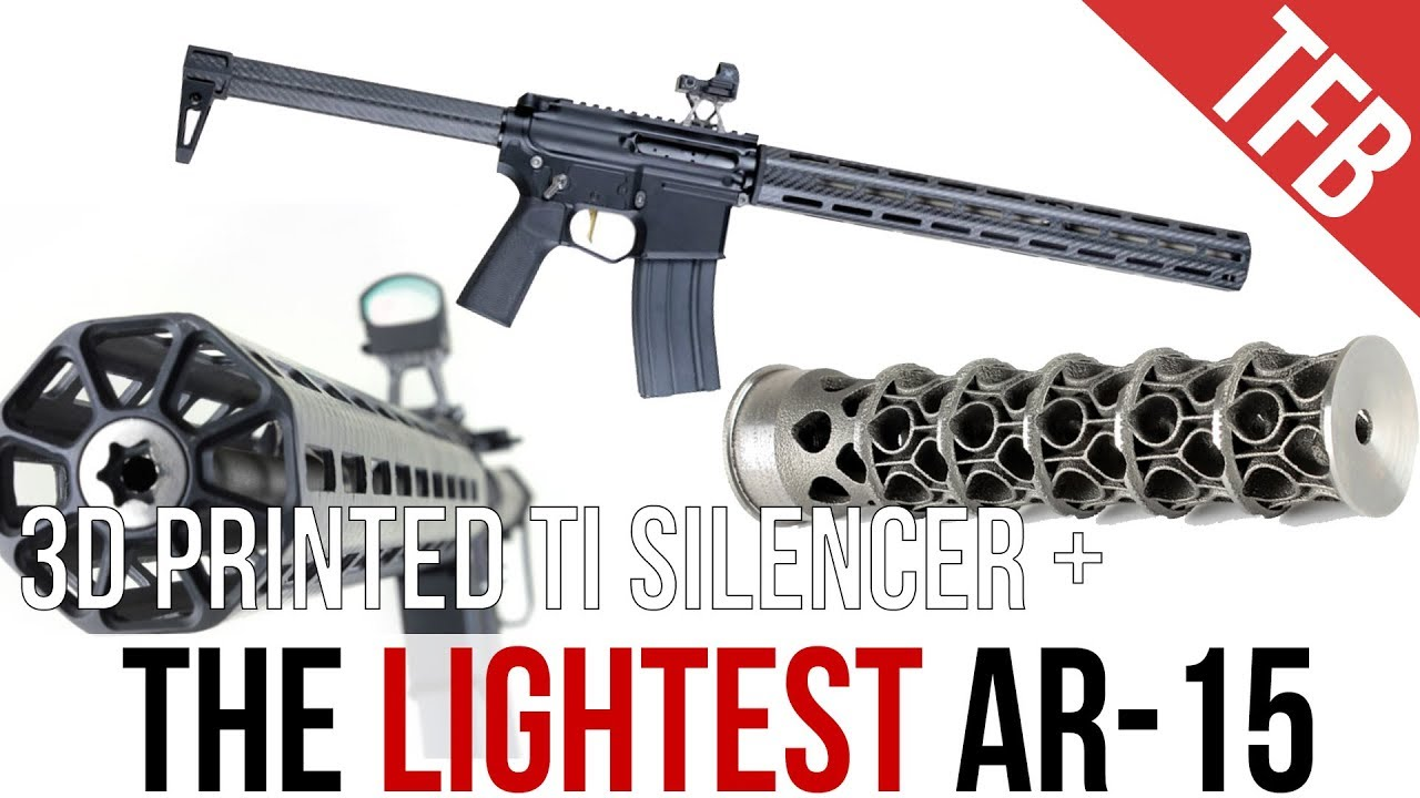 The World's Lightest AR-15: The ENYO + Titanium 3D-Printed Silencer