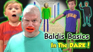 Baldi Basics in Real Life in the Dark! We Get All Problems Wrong!   DavidsTV