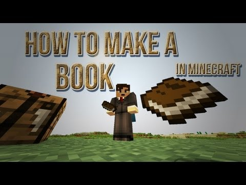 how-to-make-a-book-in-minecraft-[sugar-cane,-paper,-leather-&-crafting-recipe]