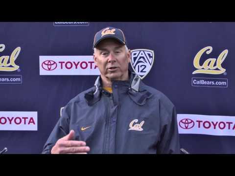 Cal Football: DC Art Kaufman Post Practice (3/31/14)