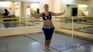 Он-лайн уроки танца живота: Baladi (часть 3 лицом)