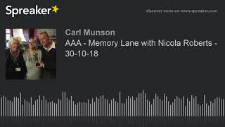 AAA - Memory Lane with Nicola Roberts - 30-10-18