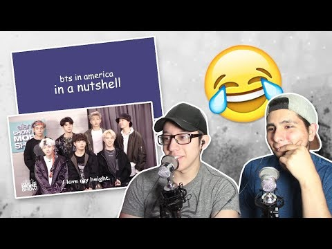 GUYS REACT TO 'BTS in America in a nutshell'