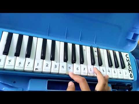 Lagu wajib Nasional Halo-halo Bandung Not angka Pianika