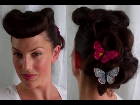 How to Retro / Vintage Betty Grable pin up inspired hairstyle Bumper Bangs - Vintagious thumbnail