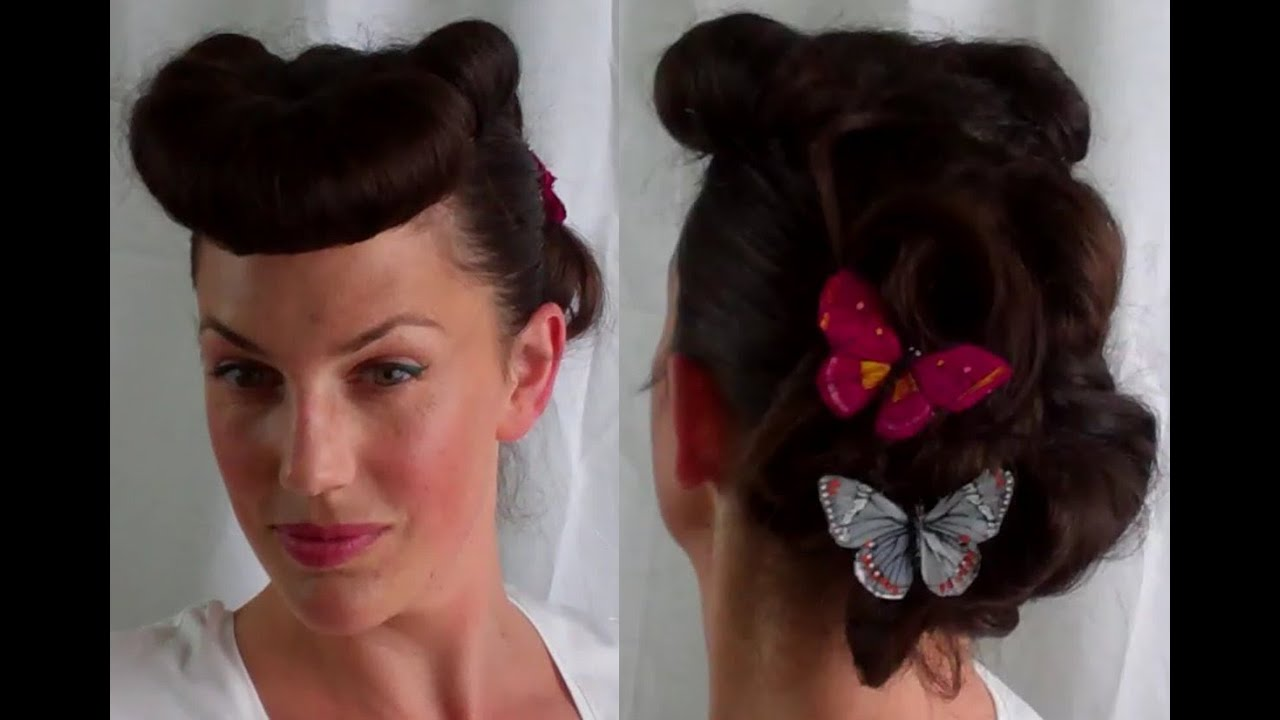 Pin Up Hairstyles For Short Hair: How To Retro / Vintage Betty Grable Pin Up Inspired