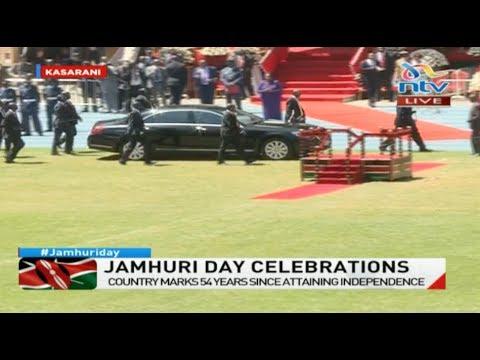 President Uhuru Kenyatta's arrival at Kasarani stadium for the Jamhuri Day celebrations