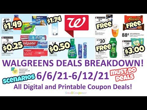 Walgreens Deals Breakdown 6/6/21-6/12/21! All Digital and Printable Coupon Deals!