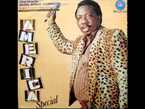 Dr Sikiru Ayinde barrister America Special Track 1