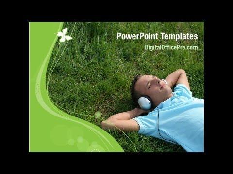 Music Sound PowerPoint Template Backgrounds - DigitalOfficePro #01780
