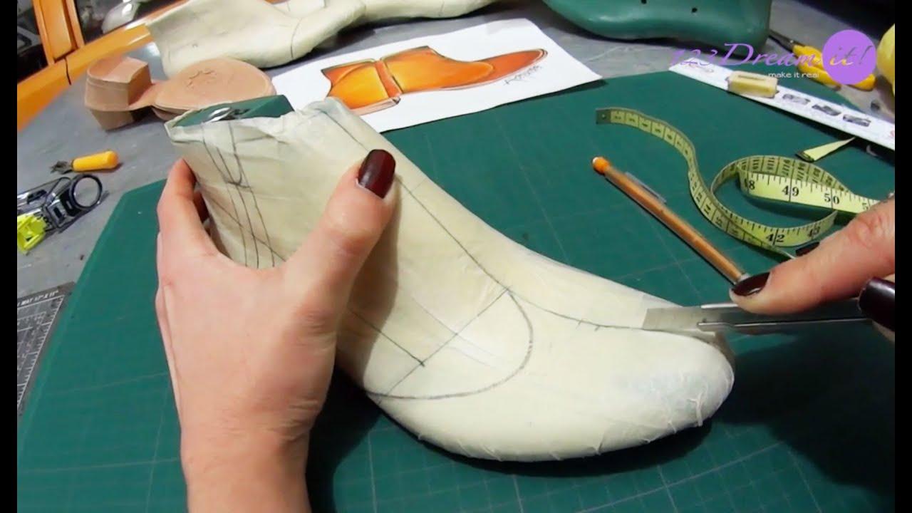 Calzado artesanal parte 3 traza el dise o youtube for Diseno de zapatos