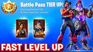 HOW TO GET 100 TIERS IN BATTLE PASS UNLOCK MAX BLACKHEART SKIN & LUXE SKIN in Fortnite SEASON 8