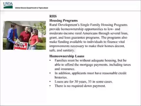 USDA RD Rural Housing Program Overview